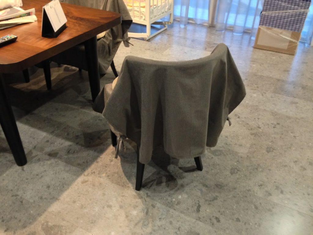 椅子カバー-ファブリックカバー-取り外し可能-川島織物-五洋-町田市-森の風-施工事例