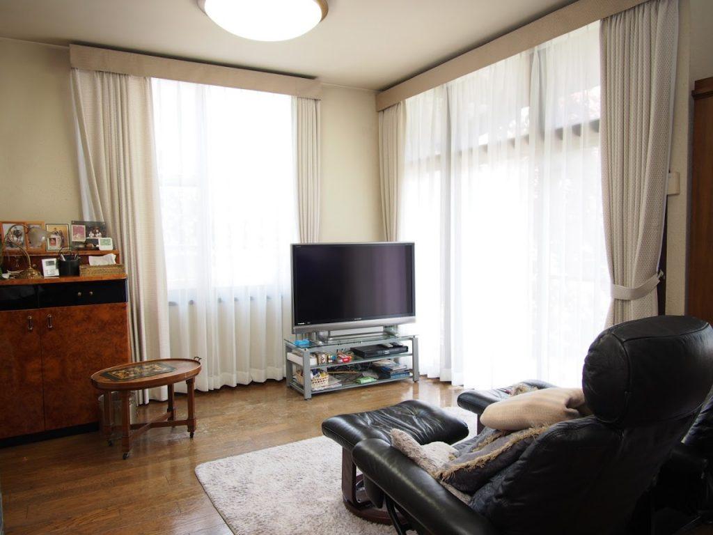 オーダーカーテン-バランス-上飾り-自社施工-森の風-世田谷区