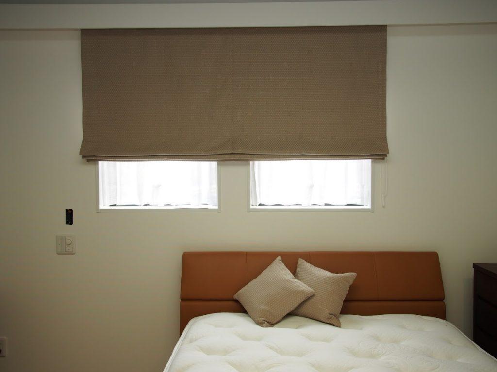 オーダーカーテン-川島織物-寝室-インテリア-シェード-町田市