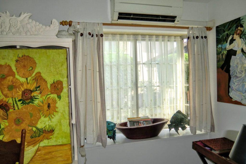 オーダーカーテン-出窓-スミノエ-町田市-森の風