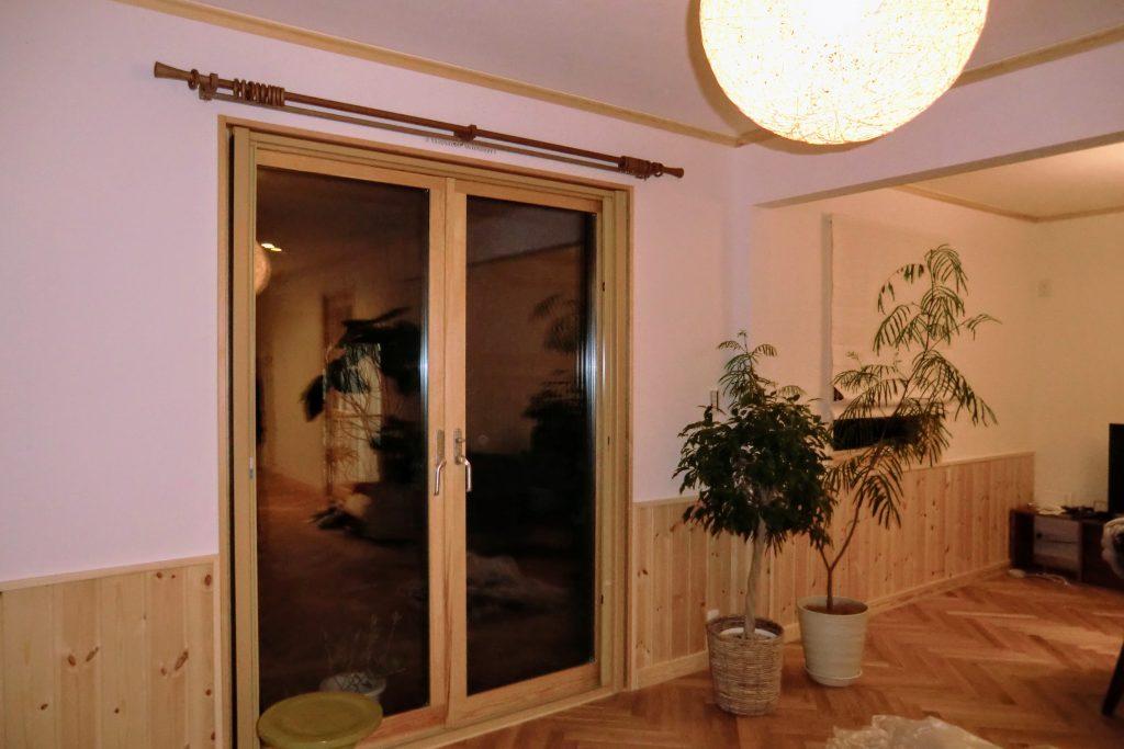 オーダーカーテン-木製カーテンレール-横浜市青葉区-施工事例