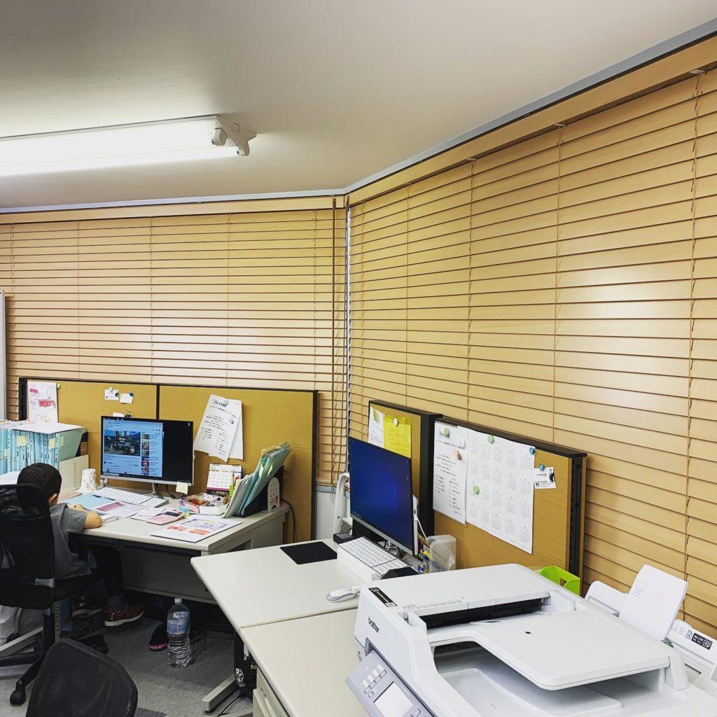 ブラインド-木製-オフィスインテリア-町田市