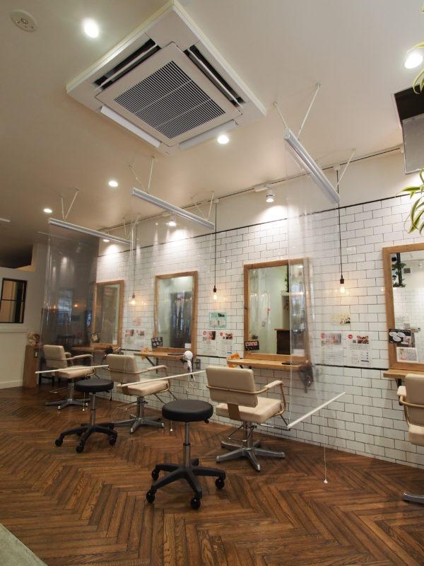 【コロナ対策】美容室Clips Hairsalon  透明ロールスクリーン