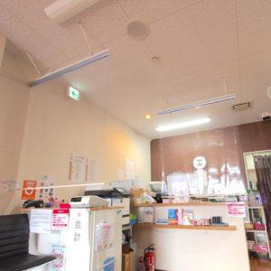 【コロナ対策】透明ロールスクリーン  ビニール 施工事例