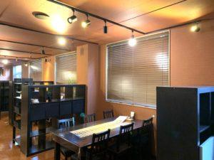 01-ペダラーダ-PEDALADA-とろけるハンバーグ-飲食店-ウッドブラインド-インテリア-内装-木製ブラインド