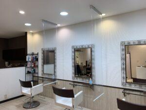 透明ロールスクリーン-ロールスクリーン-町田市-美容院-飛沫感染対策
