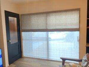 オーダーカーテン-ローマンシェード-シェード-掃き出し窓-インテリア-新築戸建-おしゃれ
