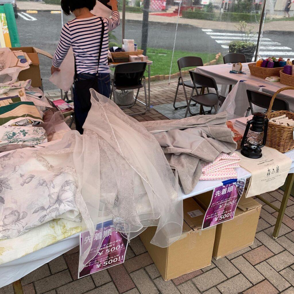 レインボーピクニック-町田-2021-ハギレ販売-森の風-ファブリック