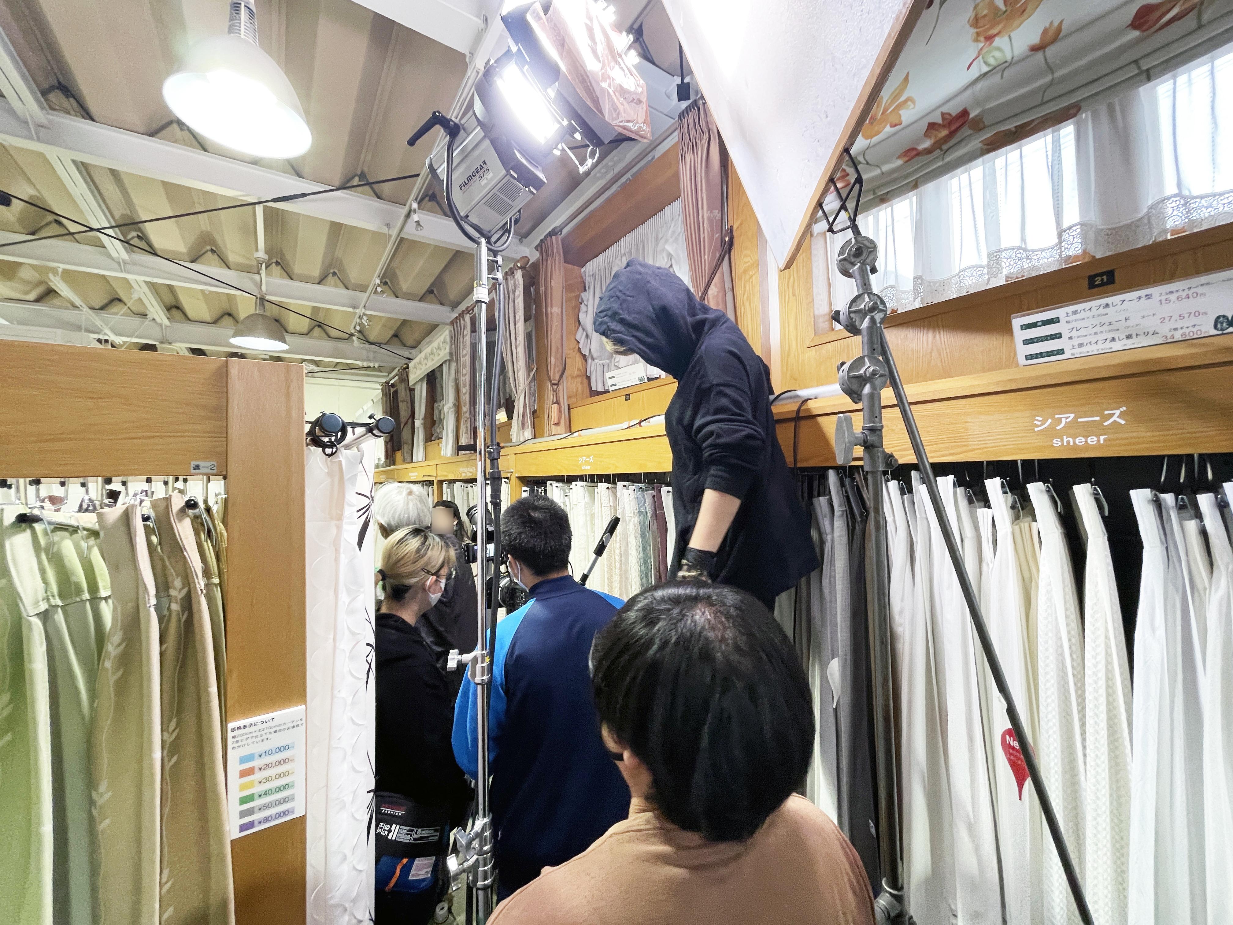 日本映画大学の学生さんが撮影実習で森の風に