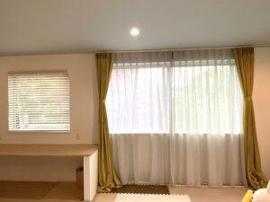 オーダーカーテン-カーテン-ブレイク-裾-丈-腰高窓の飾り方-01