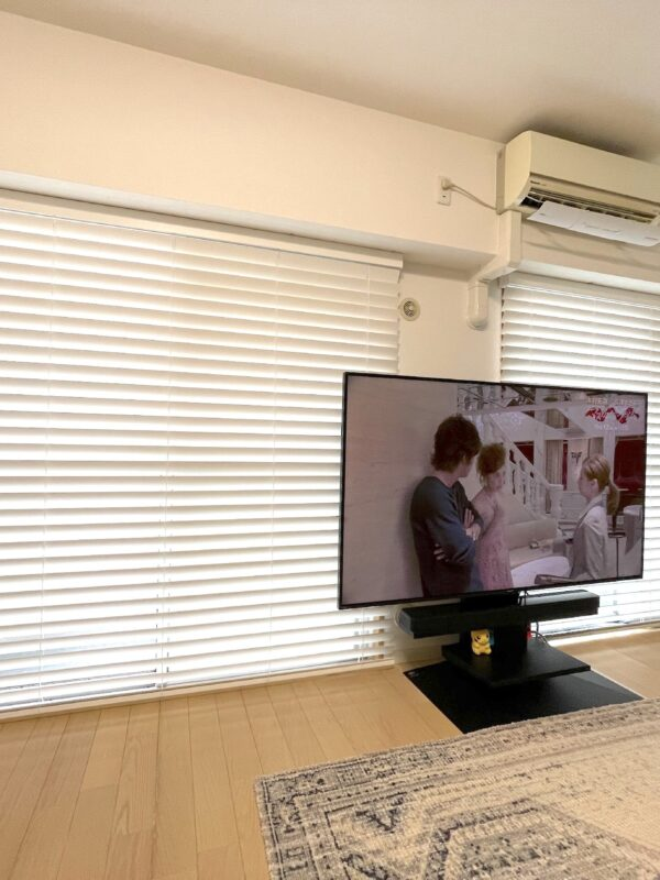 横浜市青葉区 T様 軽くて美しい!真っ白な桐のウッドブラインド