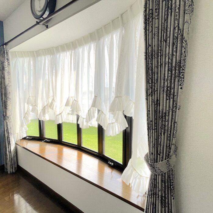 相模原市 S様 出窓をバルーンスタイルレースでオシャレに飾る